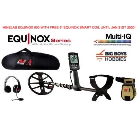 Minelab Equinox 600 free 6 inch coil