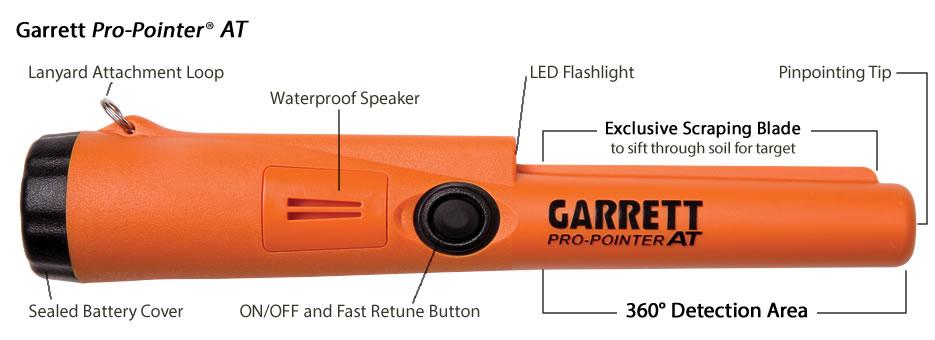 Garrett Pro Pointer AT Functions